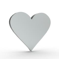 3d Icon Herz Silber