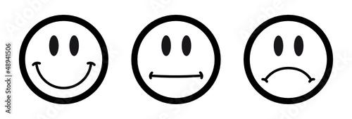 Smiley icon set fichier vectoriel libre de droits sur la banque d - Smiley en noir et blanc ...