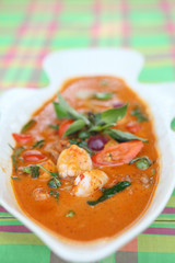hot Thai curry with roast duck