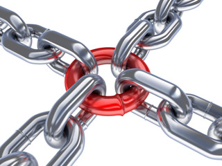 Chain and red ring