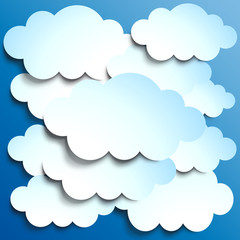 Printed roller blinds Heaven Vector Clouds background