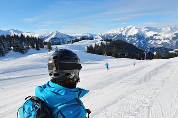 Ausblick Alpen-Skigebiet