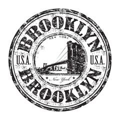 Brooklyn grunge rubber stamp