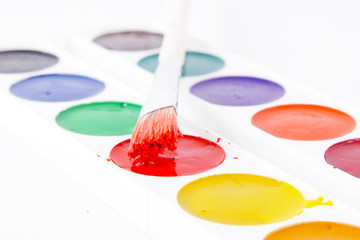 Watercolour colourful paints