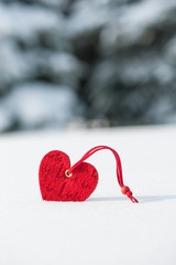 heart at snow