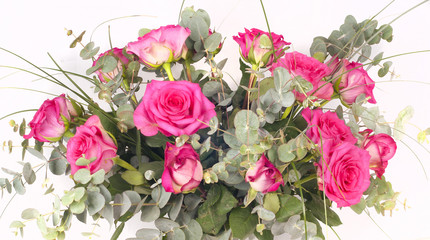 Fototapete - Bouquet of pink roses