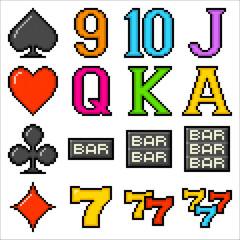 Pixel Slot Machine Symbols