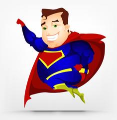 Poster Superheroes Cheerful Chubby Men