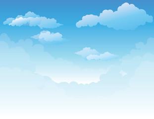Sky background. Vector
