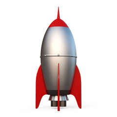 3D rendering of a Rocket isolated on white background