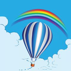 Spoed Foto op Canvas Regenboog Balloon and rainbow