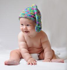 Cute baby in a cap