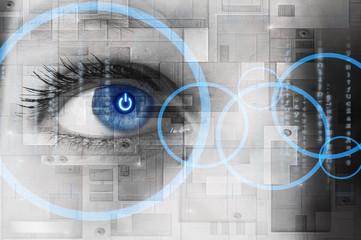 Oiel humain et informatique - concept technologie
