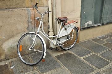 Old white bike