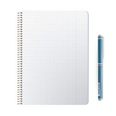 Ring notebook with close pen.