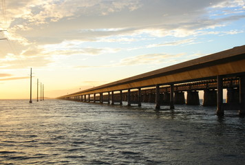 Seven mile bridge landmark of the Florida Keys