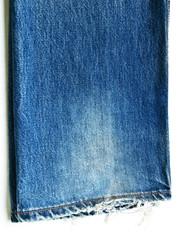 Blue jean leg with stitch