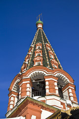 Bell tower of the Saint Basil cathedral