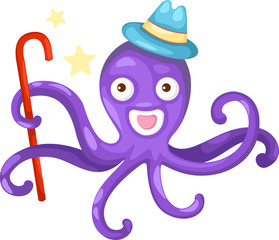 illustration of isolated octopus vector