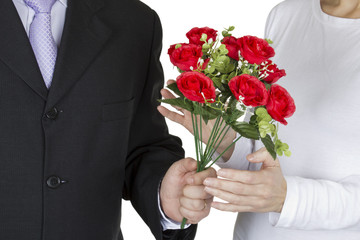 Bouquet of red roses for you