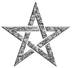 Pentagramm - Muster - Stern der Magier
