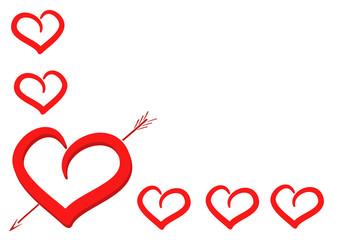 sfondo cuore e cuoricini