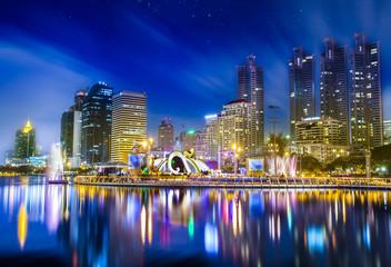 City town at night