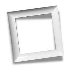 Modern empty frame isolated on white background