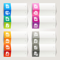 Rainbow - File format icons / Navigation template