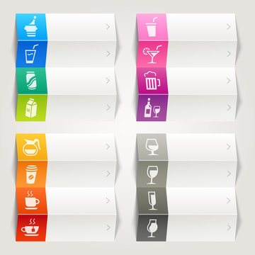 Rainbow - Drink and Alcohol icons / Navigation template