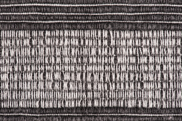 black and white striped fabric background
