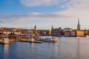 Stockholm Olt town and Harbour at Dawn