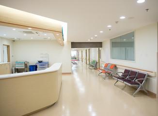 Empty nurses station