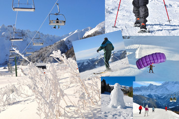 collage sports d'hiver