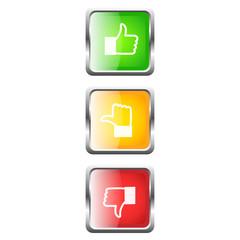 Bewertung Button Set