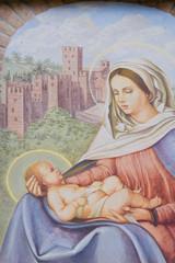 Aedicule votive. Castell'Arquato. Emilia-Romagna. Italy.