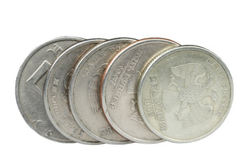 Coins five rubles