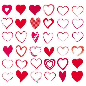 36 rote  Herzen