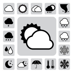 Icon set of weather ,Illustration