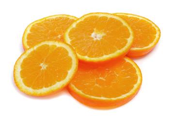 Aluminium Prints Slices of fruit orange slices