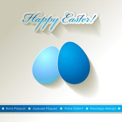 Happy Easter Papier Blau