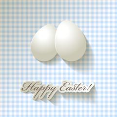 Happy Easter Papier Caro Hellbalu Natur