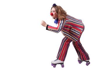 Wall Mural - jester on roller skates