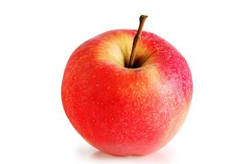 Ripe red apple.