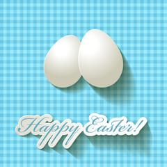 Happy Easter Papier Ostern Osterei Türkis