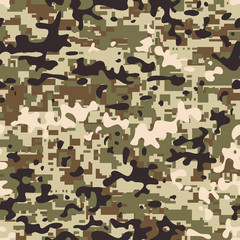 Modern seamless digital multicam pattern camouflage
