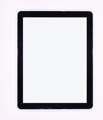 tablet computer isolated on the backgrounds