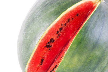 red ripe watermelon isolated on white background