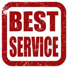 Grunge Stempel rot quad BEST SERVICE