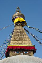 The biggest stupa in Kathmandu, Nepal